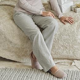 Printed Dot Pajama Bottoms
