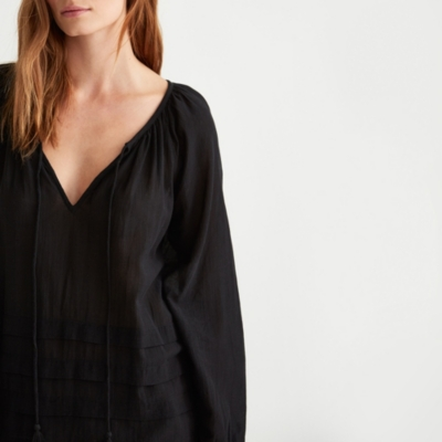 Pleat Detail Boho Blouse