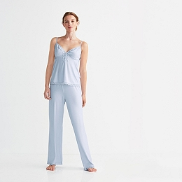 Placket Detail Pajama Set