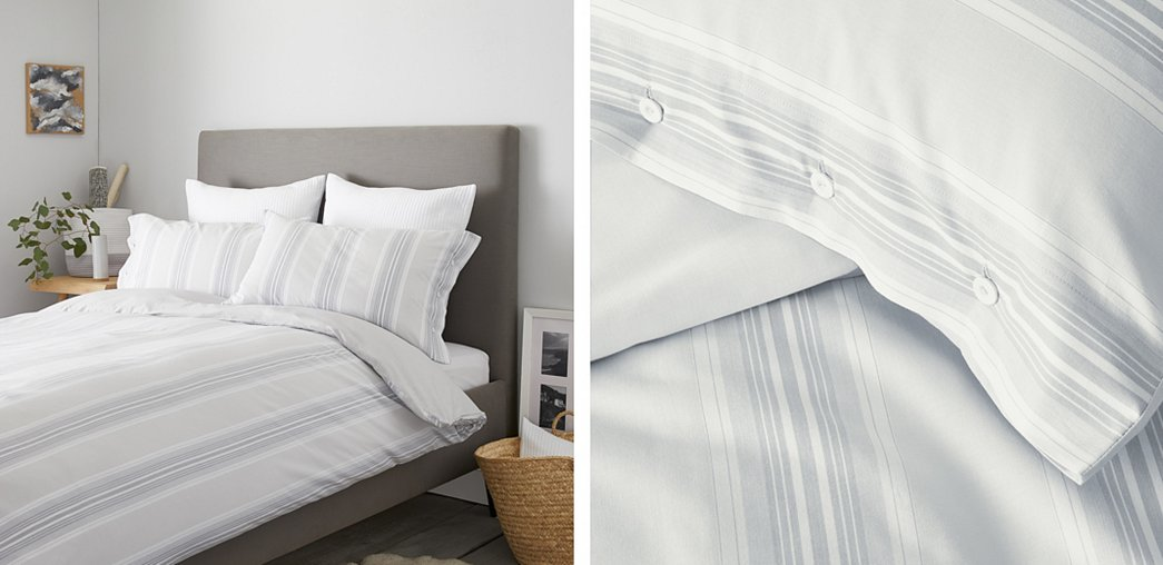 Pemberton Stripe Bed Linen Collection