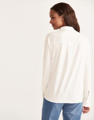 Pintuck Front Jersey Shirt