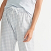 Poplin Gingham Pajama Bottoms