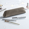 Pebblegrain Leather Brush Case  - Taupe