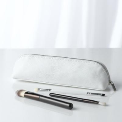 Pebblegrain Leather Brush Case - White