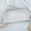 Pebblegrain Leather Make-up Case  - White