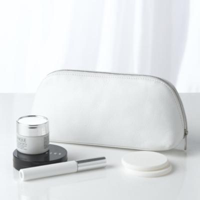 Pebblegrain Leather Cosmetic Case  - White