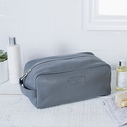 Men's Leather Wash Bag