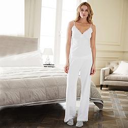 Pretty Lace Pyjama Set - White