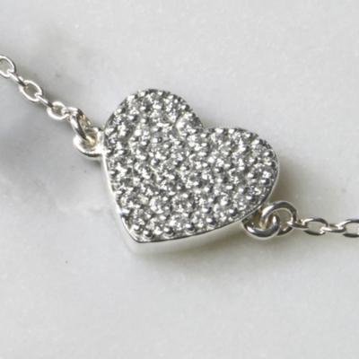 Pavé Heart Necklace