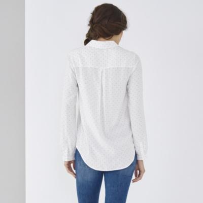 Pin Dot Half Placket Shirt