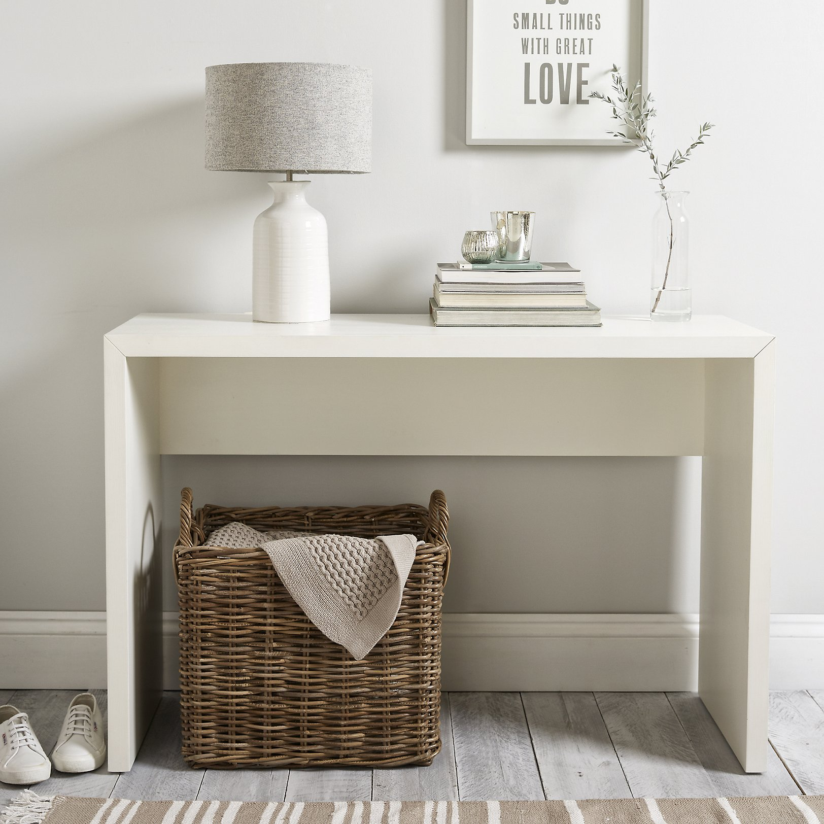 Pimlico console table tables the white company uk pimlico console table white geotapseo Image collections