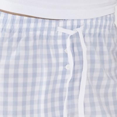 Gingham Poplin Shorts