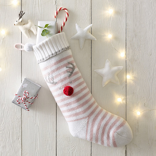 girls jingles knitted christmas stocking - Girls Christmas Stocking