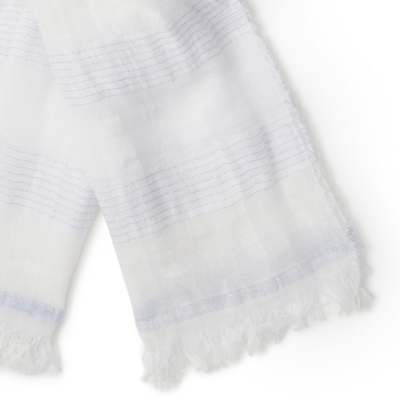Cotton Blend Sparkle Stripe Scarf