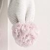Purl Knit Pompom Scarf