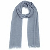 Plain Textured Scarf - Pale Blue