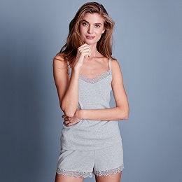 Lace Trim Cami & Short Pyjama Set