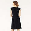 Pleated Waist Dress - Navy