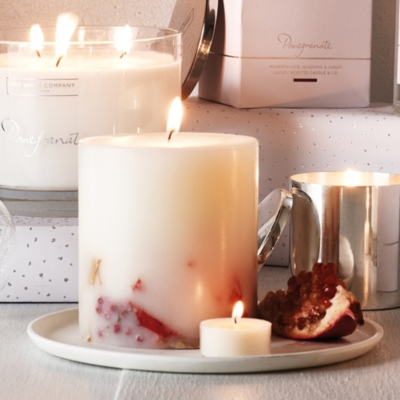 Pomegranate Botanical Pillar Candle