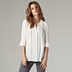 Pleated Neck Shirt - Winter White