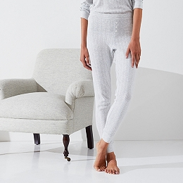 Pointelle Cuffed Pajama Bottoms