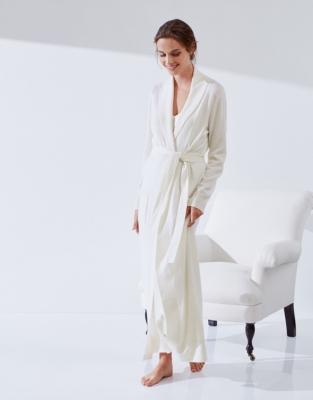 Cashmere Shawl Collar Robe