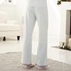 Pointelle Velvet Pajama Bottoms - Silver Gray