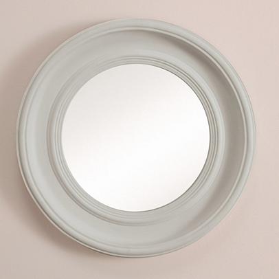 Portland Wall Mirror - White, Grey