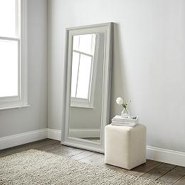 Mirrors wall floor dressing table full length the for White framed floor length mirror