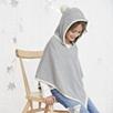 Hooded Pompom Poncho