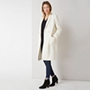 Double Breasted Patch Pocket Coat - Ivory