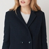 Double Breasted Patch Pocket Coat - Navy