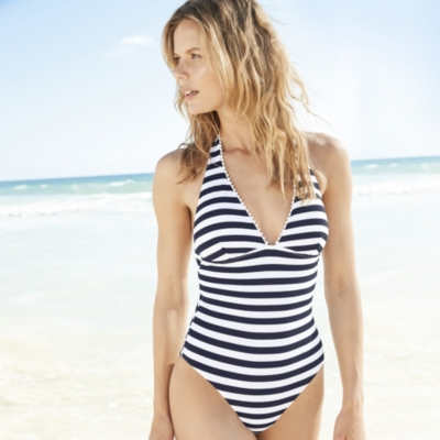Pom Pom Trim Swimsuit