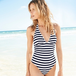 Pom Pom Trim Swimsuit