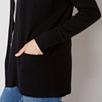 Lightweight Pocket Ribbed Cardigan - Black