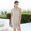 Printed Silk Dress - Silver