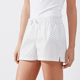 Cotton Coral Print Pyjama Shorts