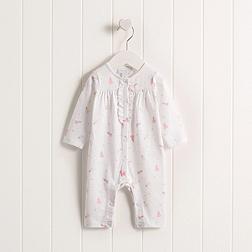 Baby Girls' Princess Ruffle Sleepsuit