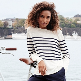 Placement Stripe Sweater
