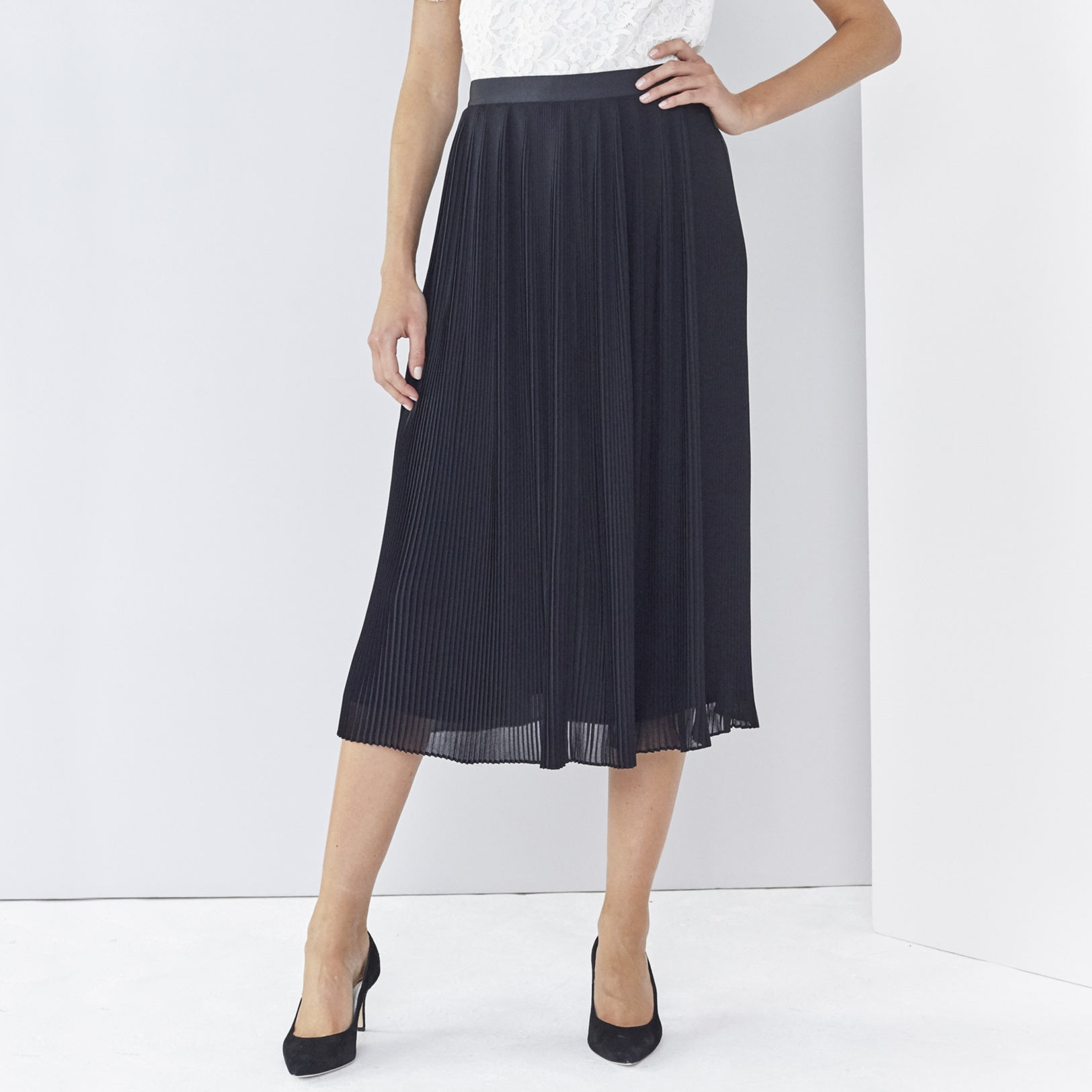 Pleated Skirt | Partywear | Clothing | The White Company UK