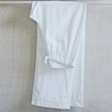 Sateen Stripe Pajama Set - White