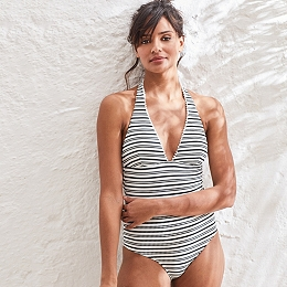 Pom-Pom Stripe Swimsuit
