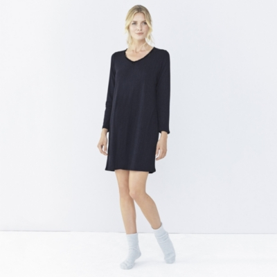 Pointelle Nightdress - French Navy