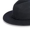 Plaited Trim Fedora Hat