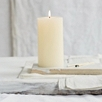 Large Unscented Pillar Candle