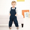 Pocket Twill Overalls - Navy