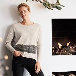 Lace Hem Sweater