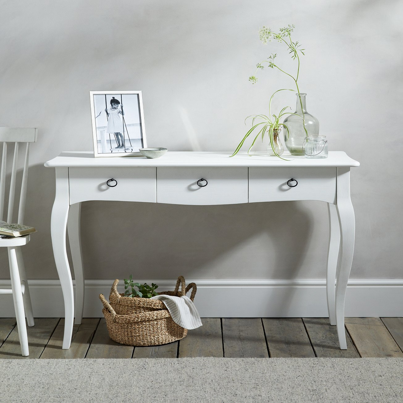 If you are looking to add a dab of understated elegance and style to your hallway, then look no further than the Provence Console Table. The vintage French design has all the curves you could desire with three deep drawers for storage. - £450.00