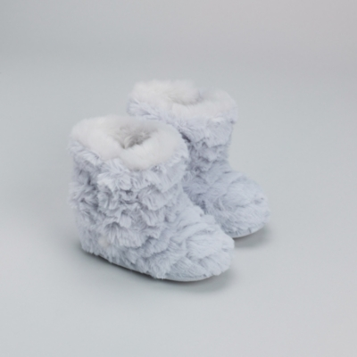 Textured Pixie Slipper Booties - Cool Grey