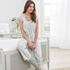 Pleat Yoke Star Print Pajama Set
